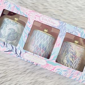 Lilly Pulitzer Votive Candles Kaleidoscope Coral